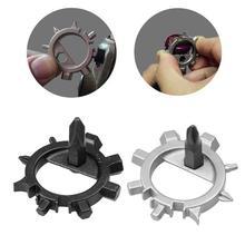 Herramienta de reparación de bicicletas 12 en 1 Multi-funcional con llave anillo exterior Dispositivo portátil para Reparación de bicicletas