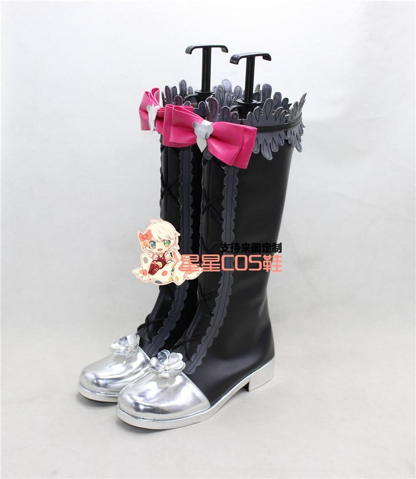 LoveLive! Love Live Maki Nishikino-حذاء أسود ورمادي تأثيري X002