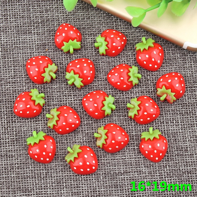 Creative cartoon strawberry decoration fridge magnets stickers  mini resin powerful refrigerator magnet stickers toys