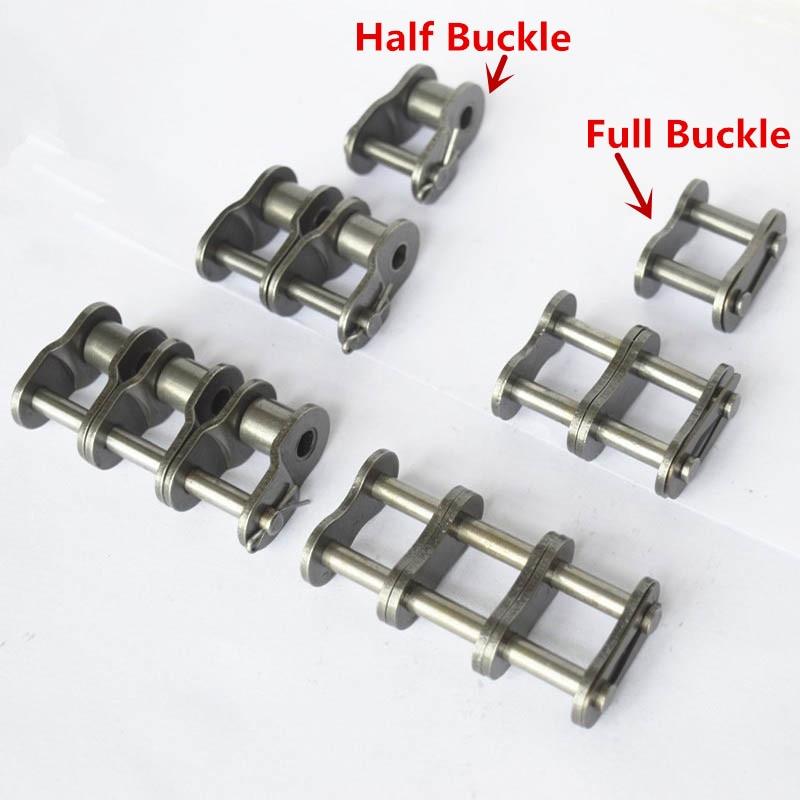06B 08B 10A 12A 16A... 1-3 filas media hebilla o hebilla completa cadena de transmisión de rodillos conector de cadena de rodillos