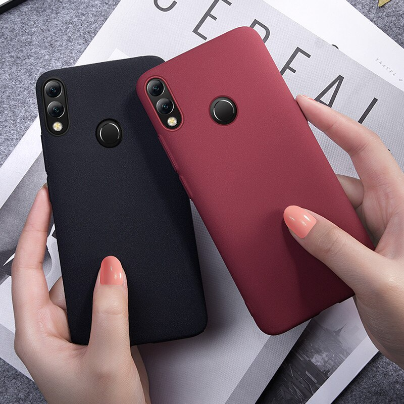Funda suave de TPU mate Simple ultrafina para Huawei Y9 2019 Honor 8x max 10 8c 7x 6x 6a v10 v20 9 8 lite play 5c carcasa para teléfono