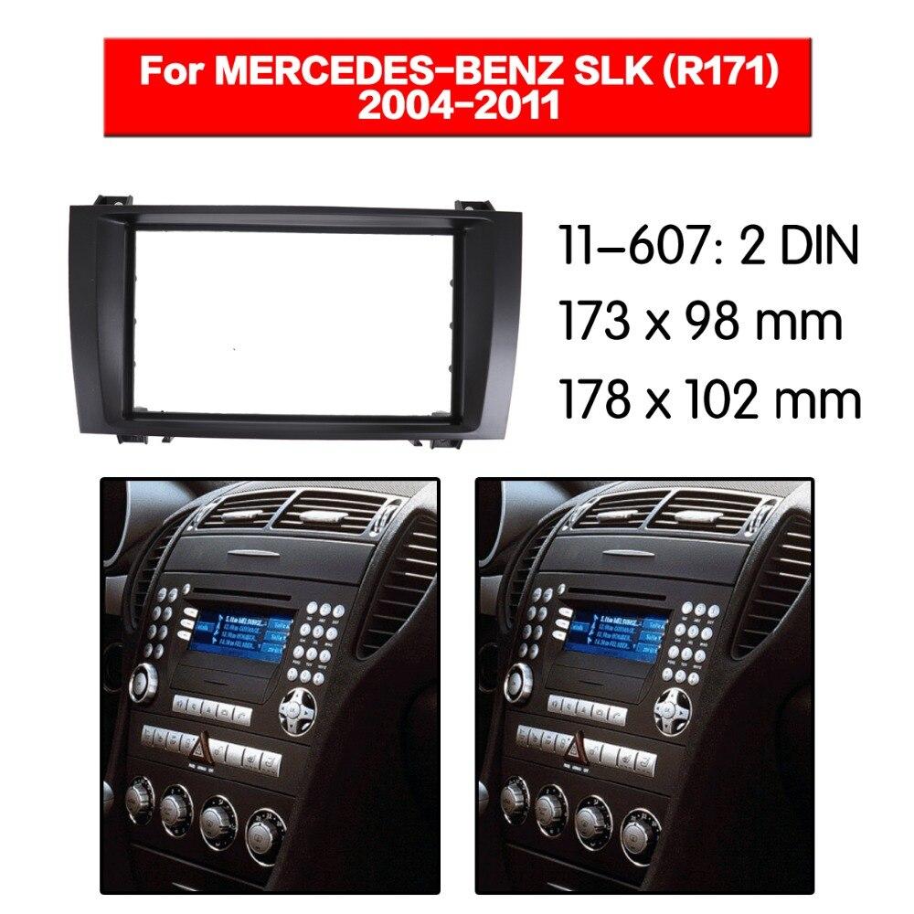 2 Rádio din Fascia para MERCEDES-BENZ SLK-klasse (R171) 2004-2011 Fascia Stereo CD Traço Guarnição Kit de Instalação 11-607