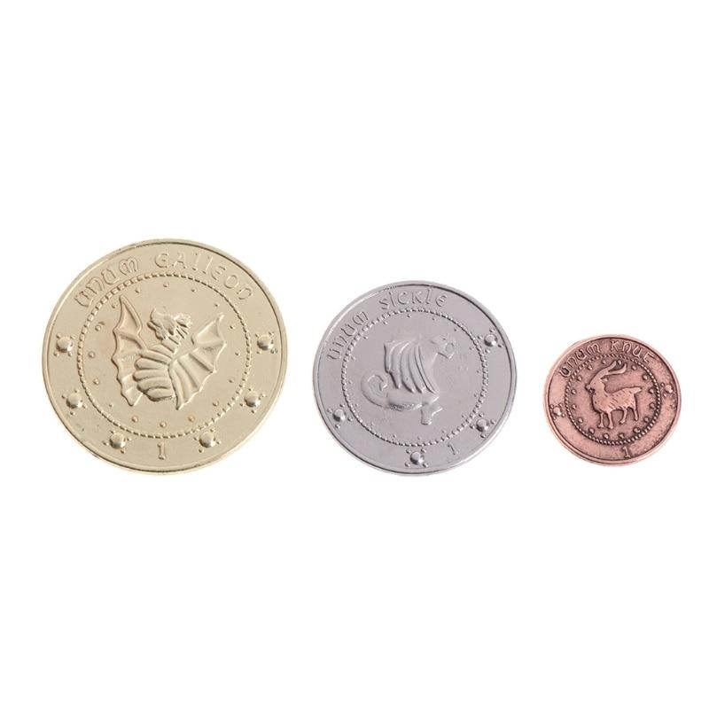 3 unids/set Gringotts Banco moneda Wizarding galones del mundo
