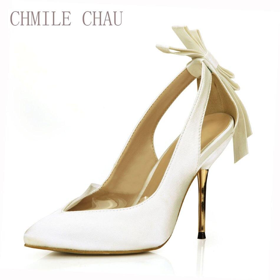 CHMILE-Zapatos de tacón Alto de hierro Para Mujer, calzado con bombas nupciales...