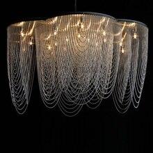 Plafond moderne à LEDs lampe nordique designer chambre lampe personnalité hôtel salon décoration lampe
