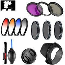 UV CPL FLD yıldız ND2 ND4 ND8 kademeli renk filtre lens Hood Cap Panasonic Lumix DMC-FZ1000 FZ1000 kamera/DG 12-60mm f/2.8-4