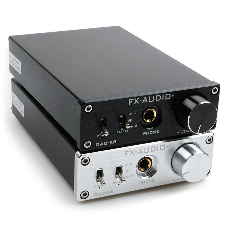 NEW FX-AUDIO DAC-X6 MINI HiFi 2.0 Digital Audio Decoder DAC Input USB/Coaxial/Optical Output RCA/ Amplifier 24Bit/96KHz DC12V 2019 fx audio new tube 03 mini audio tube pre amps dac audio with bass treble adjustable dc12v 1 5a power supply
