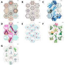 New Geometric Hexagonal 3D Sticker Eco-friendly PVC 3D Tile Paper Removable Non-slip Waterproof  Self-Adhesive Wall Paper