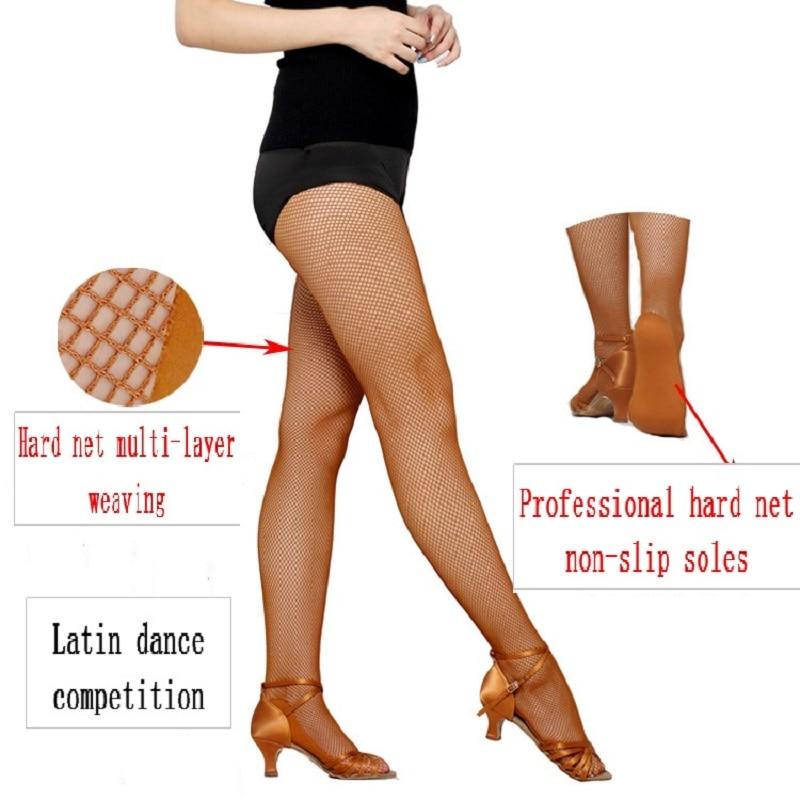 Sexy Stocking Women Latin Dance Network Solid Dance Pantyhose Feet Anti-skid Bone Line Tendon Stocking Women Feshnet Pantyhoses