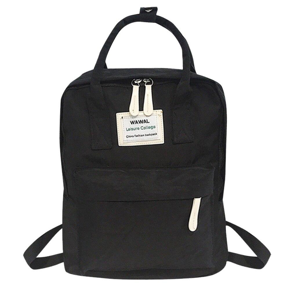 Maison Fabre Fashion Women Girl Students Canvas softback two Shoulder Bag zipper School Bag Travel Satchels Totes Backpack