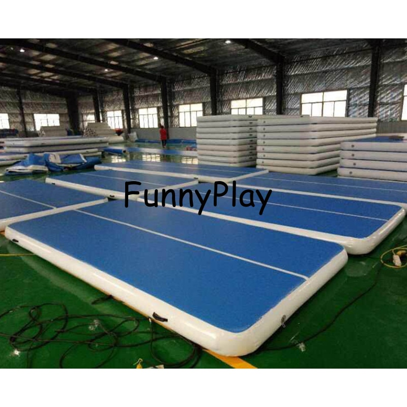 Pista de trampolín de aire de Yoga de pista de gimnasia inflable 2018 para uso doméstico entrenamiento de gimnasia Taekwondo