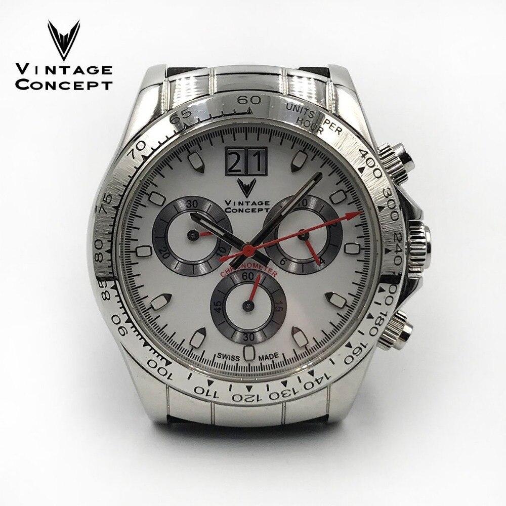 Reloj de cuarzo de estilo clásico para hombre, de acero inoxidable con cristal de zafiro, 10ATM, para mujer, reloj deportivo masculino falme