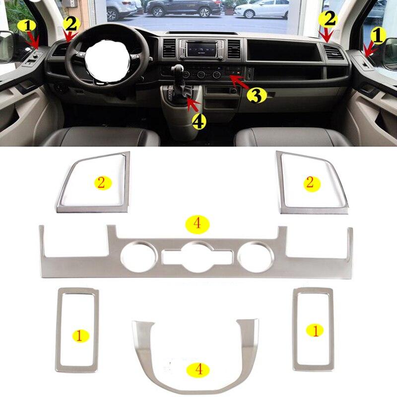 Декоративная накладка из нержавеющей стали для салона автомобиля, стикер для VW Volkswagen транспортер T6 Caravelle 3 Door 2017 18