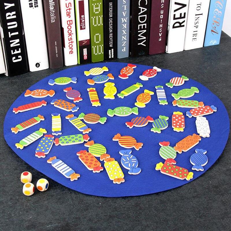 Rompecabezas de madera para niños, juguete de entrenamiento, juego de mesa de ajedrez, juego de memoria a juego, en busca de una forma de caramelo, regalo de relación padres-niños