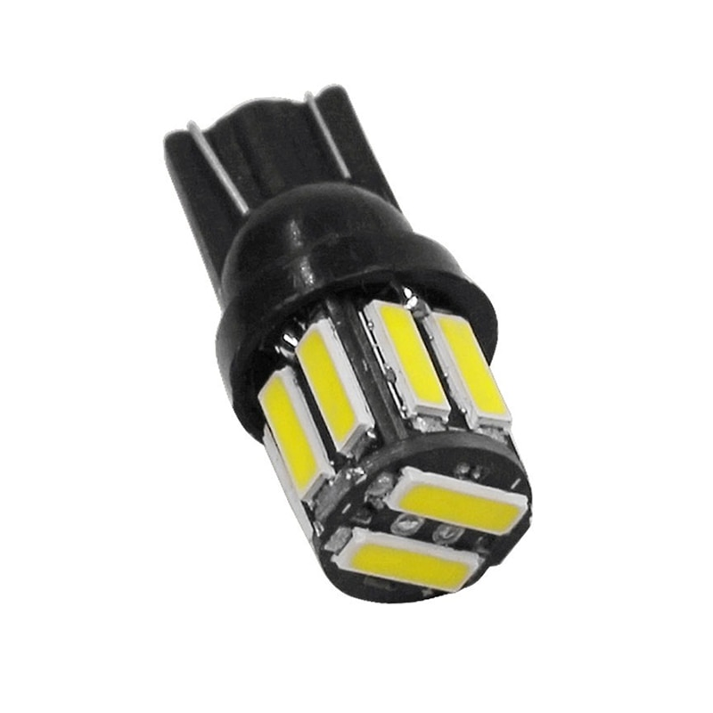 10Pcs T10/194/168/921 W5W 7020 10-SMD LED Interior Lights Bulb For Car Replacement Lights Wedge Reading Lamps Indicator Lights