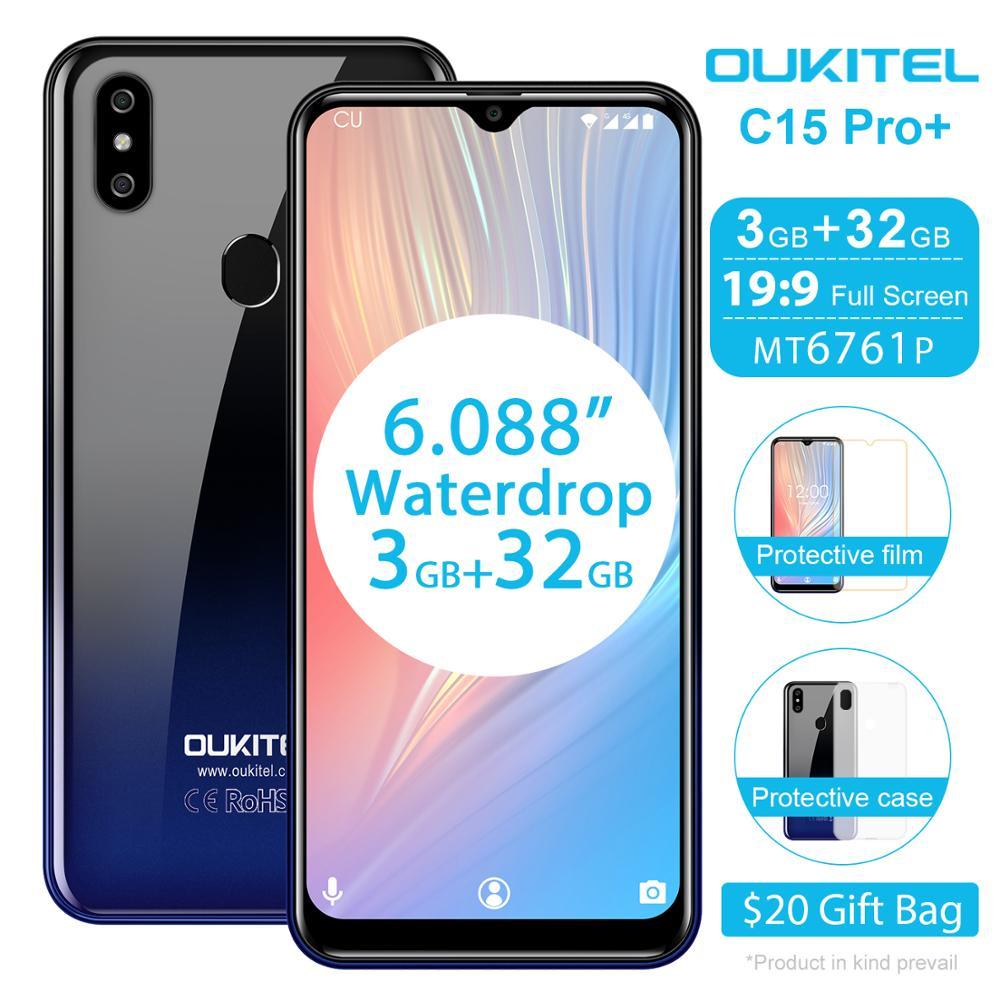 Перейти на Алиэкспресс и купить Смартфон OUKITEL C15 Pro Plus, 3+32 ГБ, Android 9.0, 8 МП, 3200 мАч