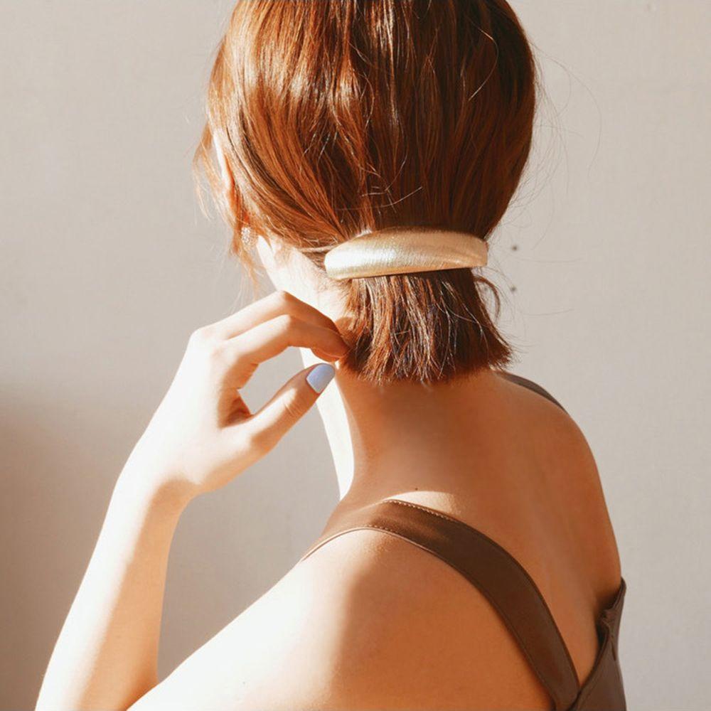 1PC de moda mujeres elegante oro/plata Chic Metal Clips de cabello para dama elegante horquillas pasadores de pelo Accesorios para peinados