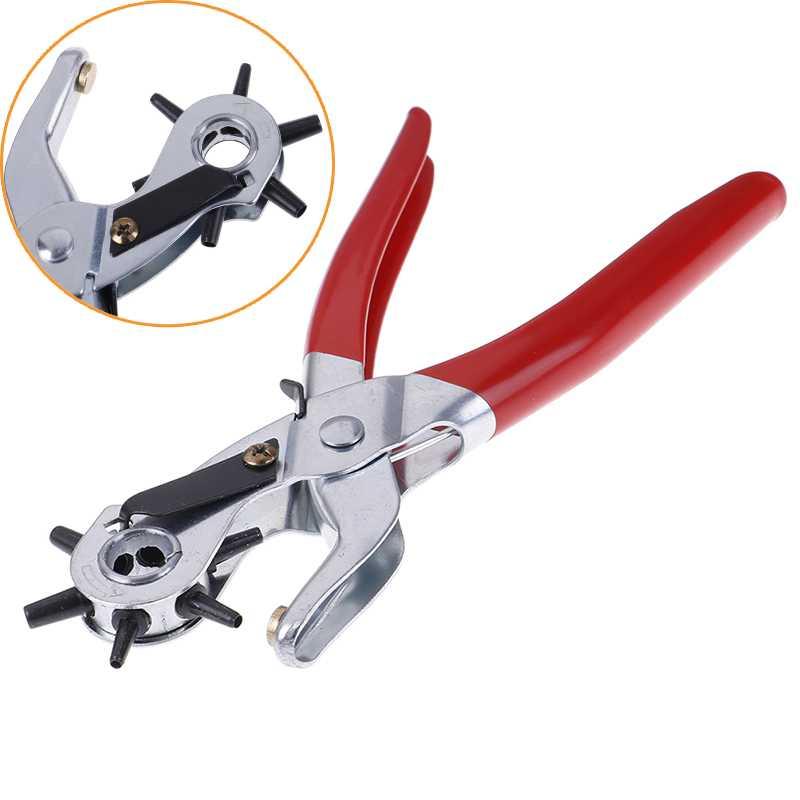 3-em-1 Mão Alicates Ferramentas Leathercraft Belt Furador Ferramenta do Agregado Familiar para o Couro de Couro Máquina de Perfuração de Furos