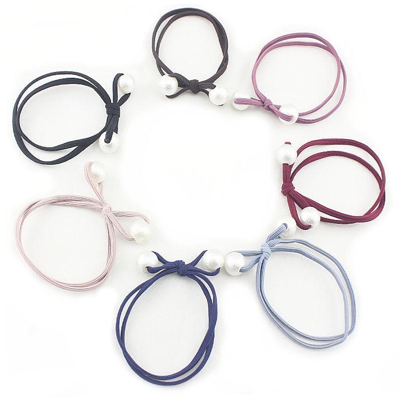 Модный женский головной убор двойной узел завязываемые эластичные резинки для