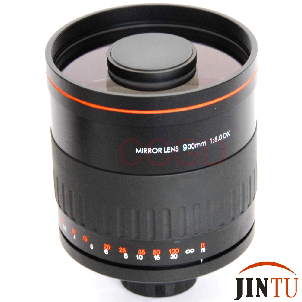 JINTU 900 мм f/8,0 зеркальный Профессиональный телеобъектив для камеры NIKON Full frame D3500 D3200 D3400 D7500 D7100 D7200 D5500