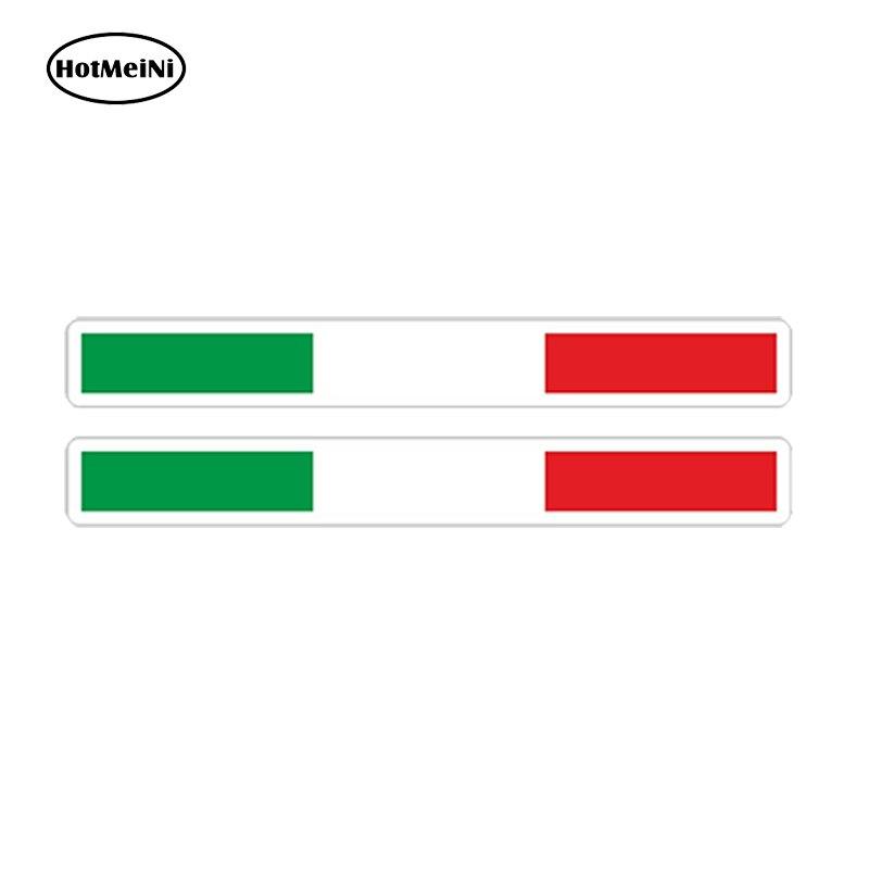 HotMeiNi 2 x Car Styling 3D Car Sticker Italy Stripes Flag Tricolore Bumper Helmet Bike Truck Door Accessories 13*1.56cm