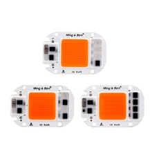 Led Grow Light COB Chip 20W 30W 50W Full Spectrum AC110V 220V No Voltage Regulator Required For Greenhouse DIY Led COB Grow Lamp