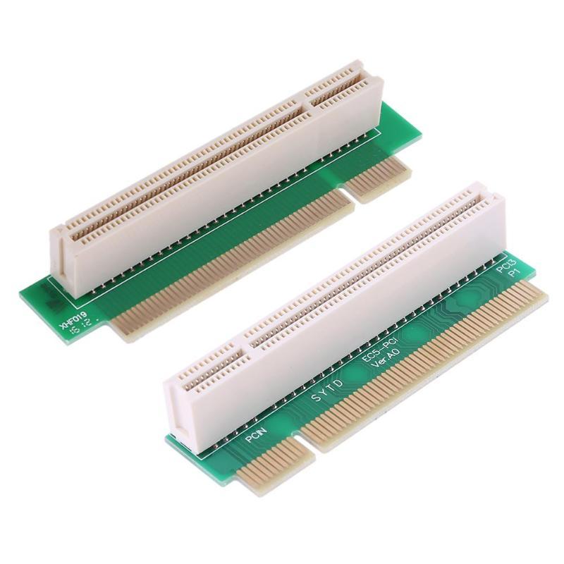 Adaptador de tarjeta de extensión de 2,5 cm PCI macho a hembra de 32 bits de 90 grados en ángulo recto hacia adelante y reverso para 1U PCI chasis