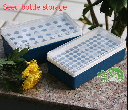 1 pc, caixa de armazenamento de sementes de garrafa de semente de tamanho grande ou pequeno armazenamento de sementes, vegetal, plantio de flores, fontes de jardim