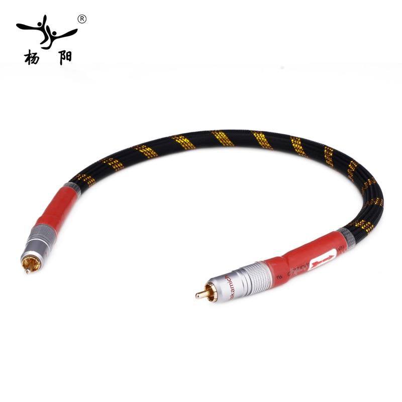 YYAUDIO 8N OFC Ortofon Hifi Cable Coaxial alta calidad DAC 75ohm hifi Digital RCA Cable