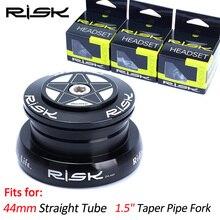 """RISIKO 28,6/44-44/30/39,8mm Gerade Rohr Rahmen Headset 44mm Mountainbike Fahrrad externe Tasse Headset für 1,5 """"Kegel Rohr Gabel"""