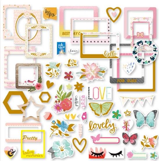 Marco de fotos pequeñas pegatinas para álbumes de recortes planificador feliz/manualidades DIY/hacer tarjetas de decoración