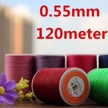 YL055 0.55mm Waxed Thread String for Leather Sewing, Leather String Leather Thread