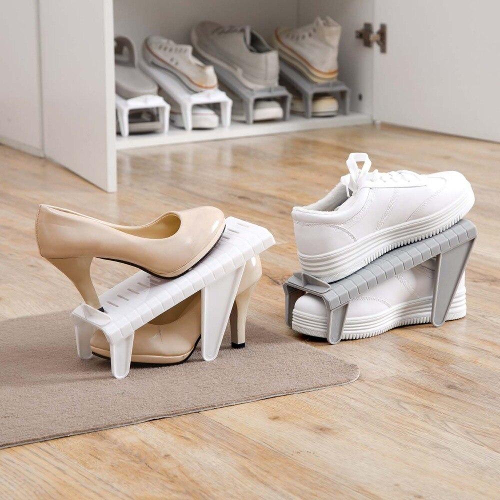 OTHERHOUSE regulowana wysokość buty wieszak półka do przechowywania organizer na obuwie buty gniazda uchwyt skrzynki gablota z pułkami podwójna warstwa