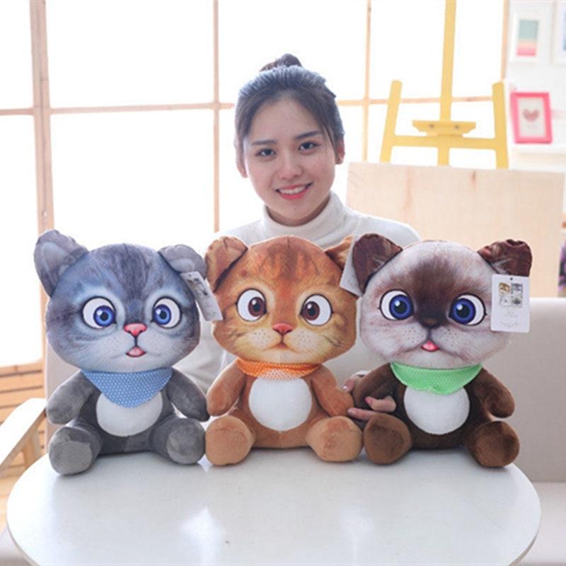 1pc 20cm Mini Cute Plush Cat Toys Stuffed Plush Animals Cartoon Cat Doll Toys Kids Toys Girls Gifts недорого