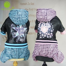 Combinaison hiver chaude pour chiens   Vêtements pour chiens, Plaid bleu, salopette pour chiens, Chihuahua cvêtements pour petits chiens, Yorkshire