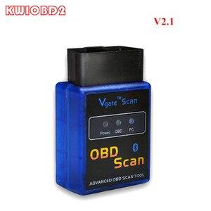 Image 1 - Автомобильный диагностический сканер ELM327 V2.1, Bluetooth Vgate Scan ELM 327 OBDII