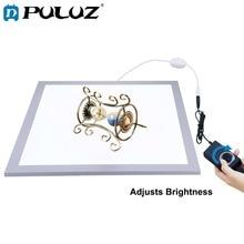 PULUZ 1200LM 15/15in/38x38 cm photographie de LED panneau de lampe de lumière inférieure sans ombre réglable pour 40cm