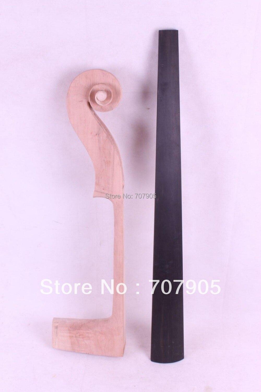 New cello parts, 1x maple cello neck + 1x ebony cello fretboard #E29