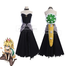 Game Super Mario Princess Bowsette Cosplay Costume Kuppa Koopa Hime Cute Dress Sexy Halloween Carnival Uniforms Custom Made