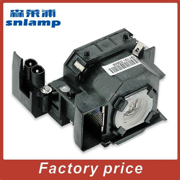 Snlamp alta calidad compatible con lámpara ELPLP34 V13H010L34 bombilla para EMP-X3 EMP-62 EMP-63 EMP-82 Powerlight 76C 62C