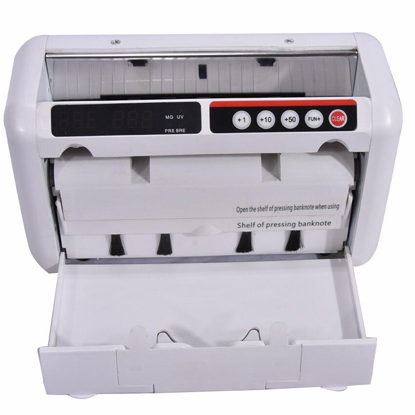 1 ud. Contador de dinero de 110V / 220V adecuado para EURO dólar de EE. UU. etc. Contador de billetes Compatible con múltiples monedas máquina de conteo de efectivo