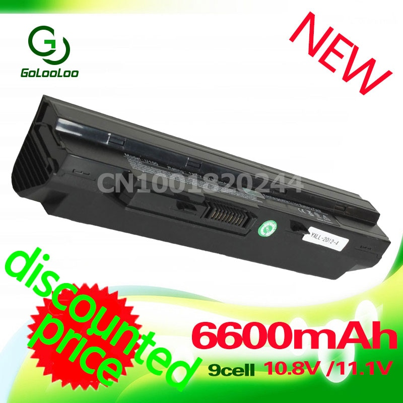 Gololoo 6600MaH batería negra para ordenador portátil MSi U100 U90 U210 U200 BTY-S12 U230 BTY-S11 para LG X110 para MEDION Akoya Mini E1210