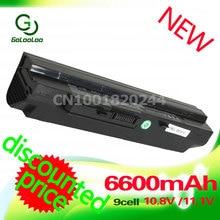 Golooloo 6600MaH siyah Laptop pil için MSi U100 U90 U210 U200 BTY-S12 U230 BTY-S11 LG X110 için MEDION akoya Mini E1210