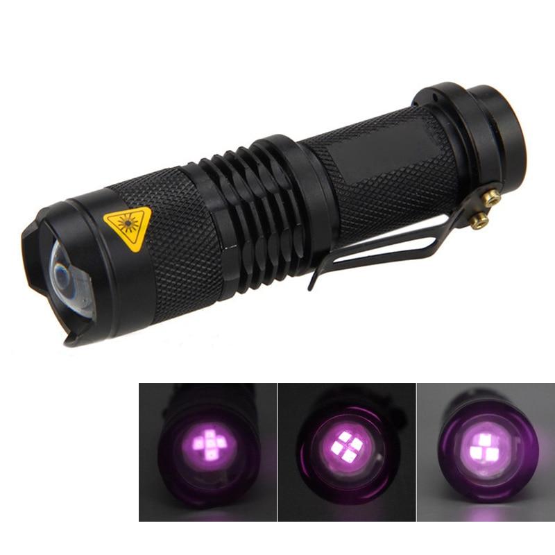 Linterna táctica IR de caza al aire libre 7W 850nm 940nm 5 núcleos con zoom infrarrojo noche Invisible linterna de luz (1xAA)