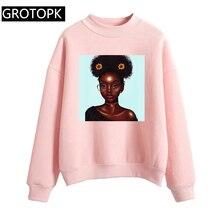 2 Bunz mélanine Poppin Aba imprimer sweat à capuche pour femme noir fille magique Rock Hip Hop Streetwear femme sweat polaire pull Kpop