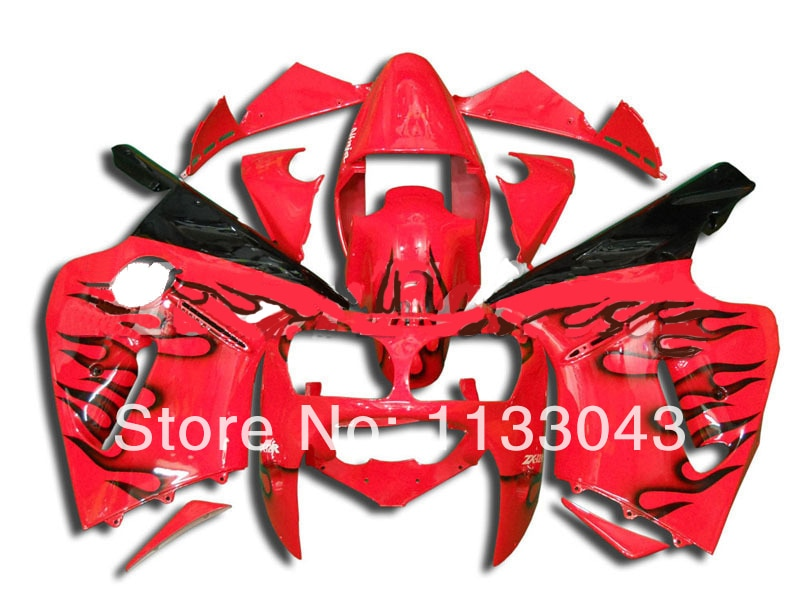 100%NEW red black flame Fairing kits FOR KAWASAKI NINJA ZX12R 00-01 ZX 12R 00 01 ZX-12R 00-01 ZX 12R 2000 2001 fairing kits
