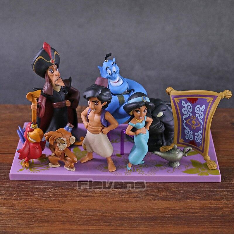 Personajes WCF Story 04 y la lámpara mágica Jarar PVC figuras juguetes muñecas 6 unids/set