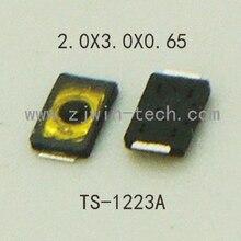 Bouton de téléphone Ultra-petit profil bas   10 pièces, bouton de pression latérale, commutateur lumineux tactile, Button2X3X0.65mm superminuscule cms