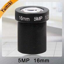 Yumiki 5,0 Megpixel M12 MTV 16mm 5MP HD CCTV Kamera Objektiv IR HD Sicherheit Kamera Objektiv Fixiert Iris
