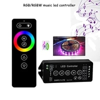 new music rf strip led controller music sound sensor 5 24v remote controller with wall mount holder for all rgbrgbw strip light